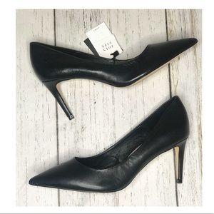NWT Zara Leather Heels Black